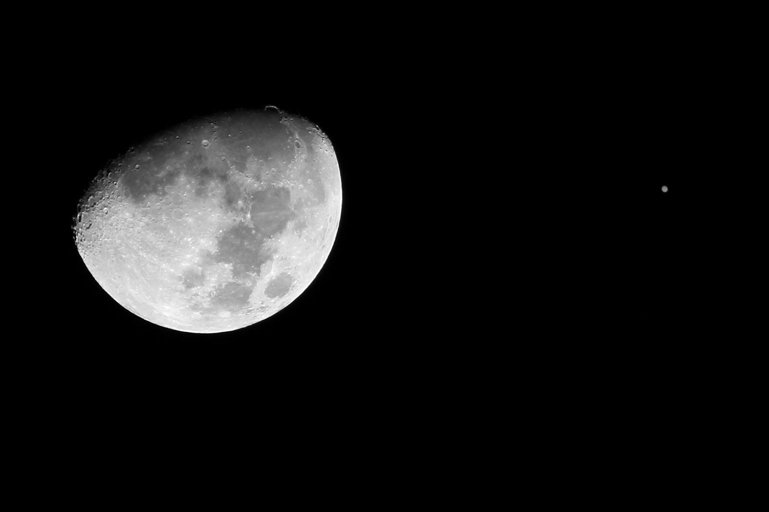 Moon + Jupiter